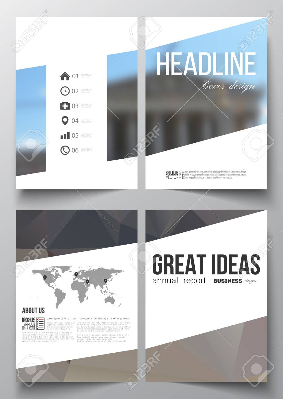 Set Of Business Templates For Brochure, Magazine, Flyer, Booklet ...