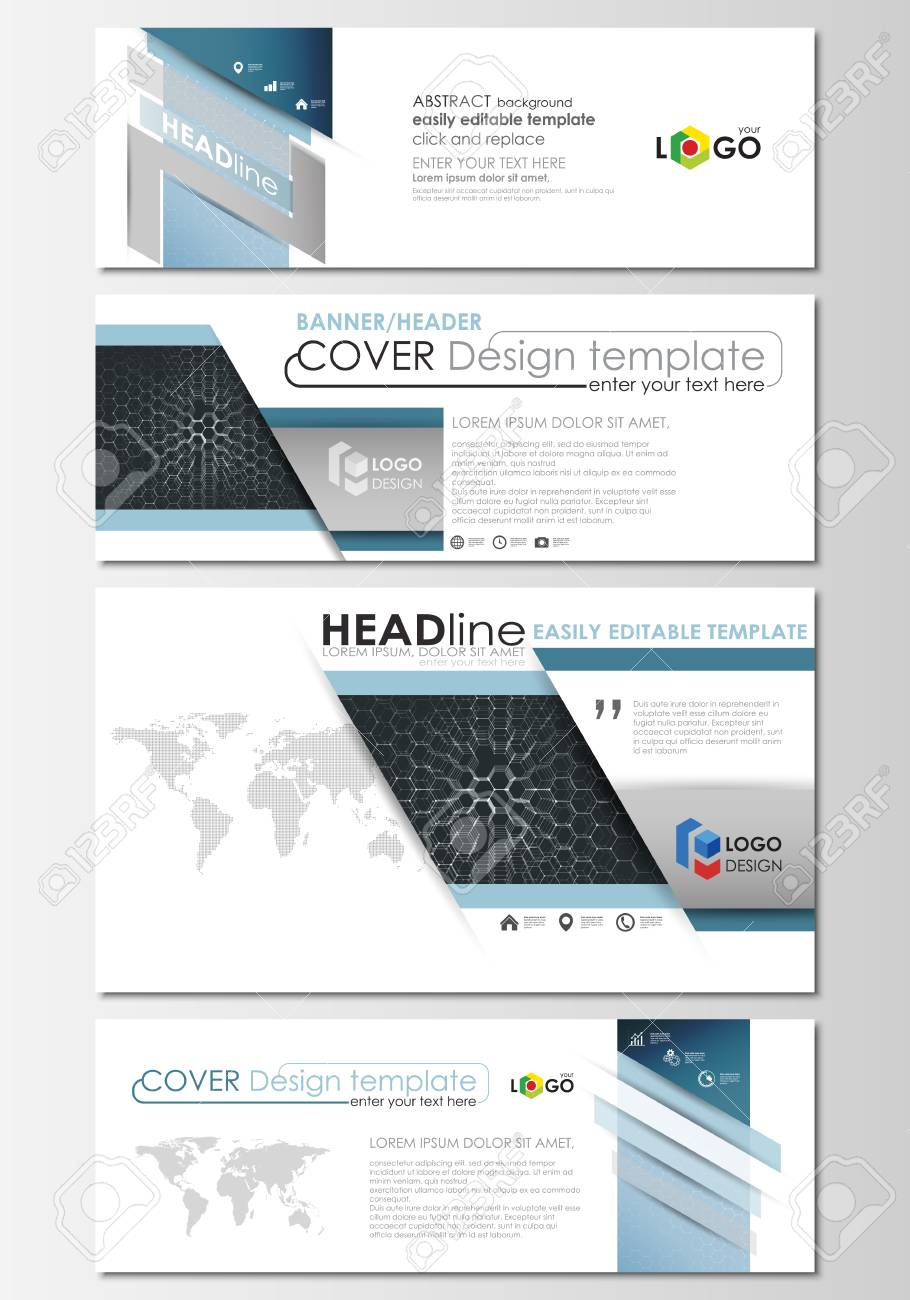 Social Media And Email Headers Set Modern Banners Business Templates Cover Design Template