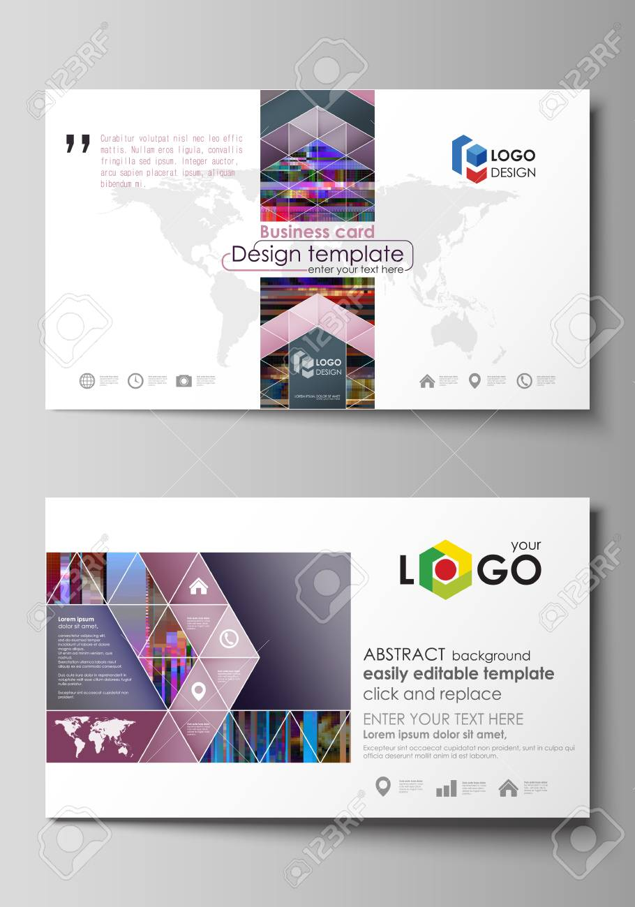 Business Card Templates. Easy Editable Layout, Abstract Flat ...