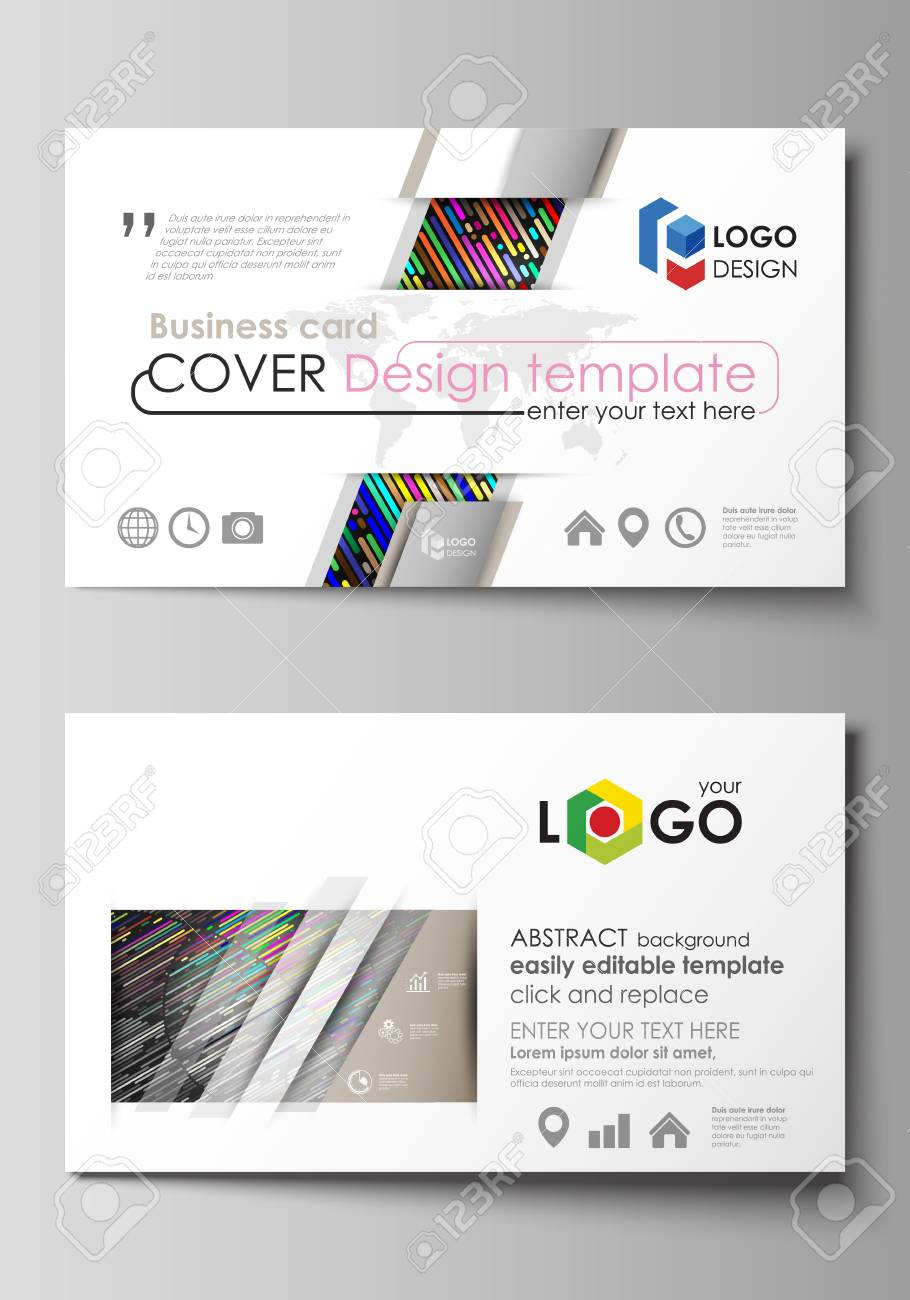 Business card templates easy editable layout abstract vector business card templates easy editable layout abstract vector design template colorful background made cheaphphosting Images