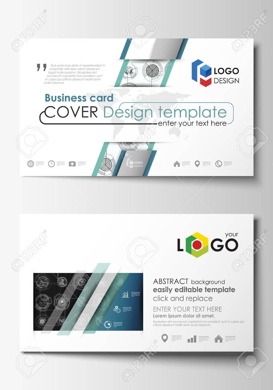 Business card templates easy editable layouts flat style template business card templates easy editable layouts flat style template vector illustration high flashek Images