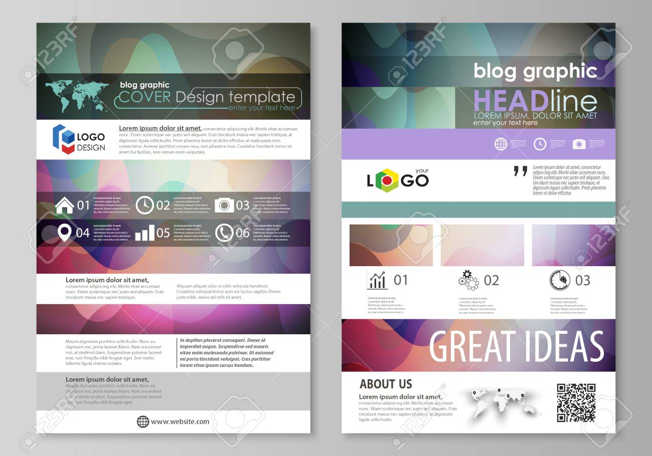 Blog graphic business templates page website design template blog graphic business templates page website design template flat style vector layout colorful accmission Gallery