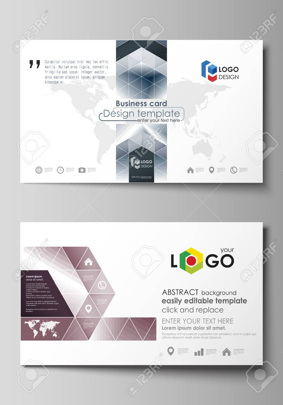 Business card templates easy editable layout vector design business card templates easy editable layout vector design template simple monochrome geometric pattern wajeb Images