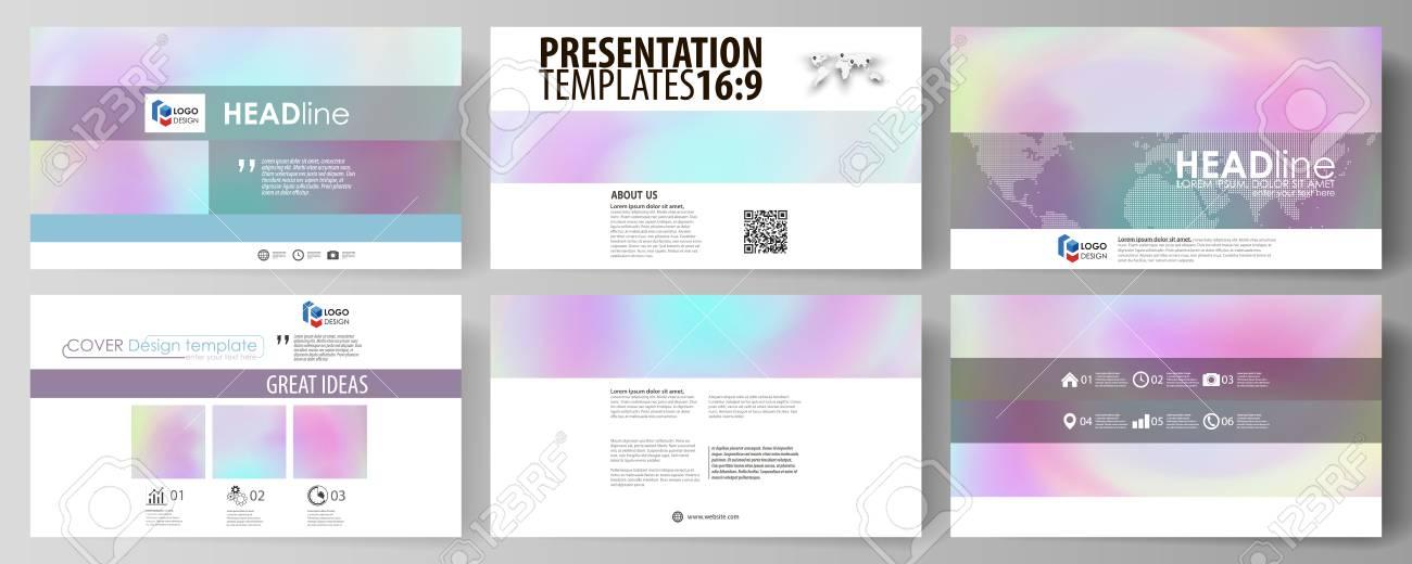 Business-Vorlagen Im HD-Format Für Präsentationsfolien. Vektor ...