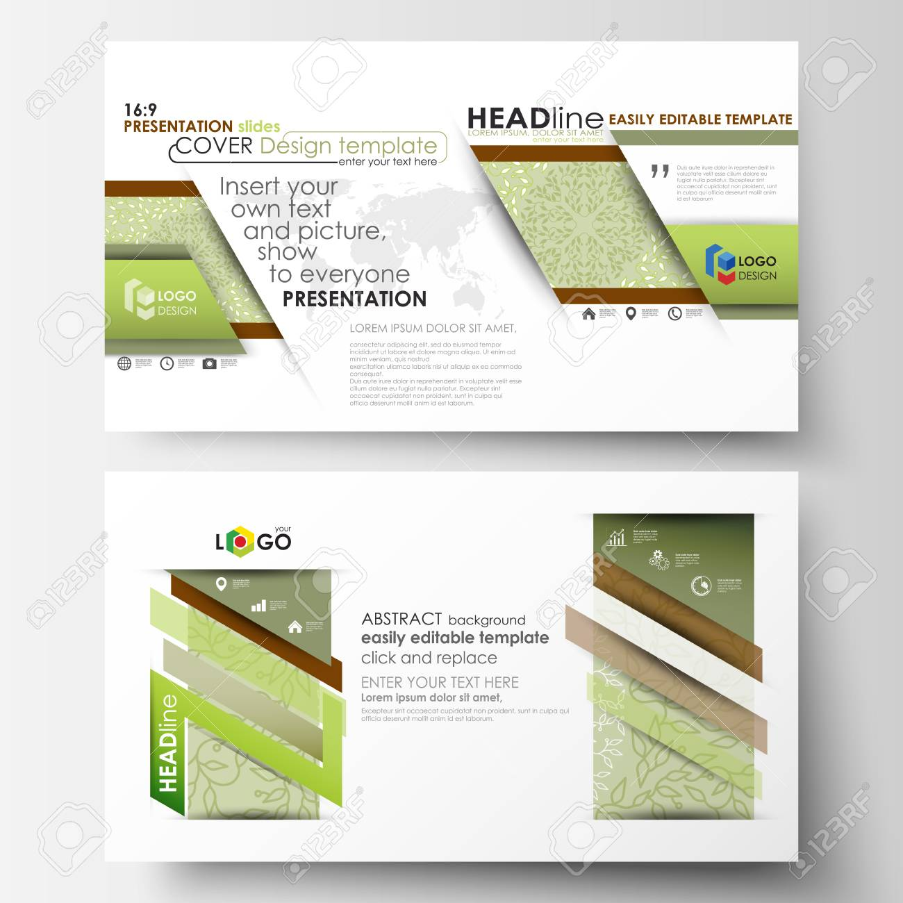 Business Templates In HD Format, Presentation Slides. Abstract ...