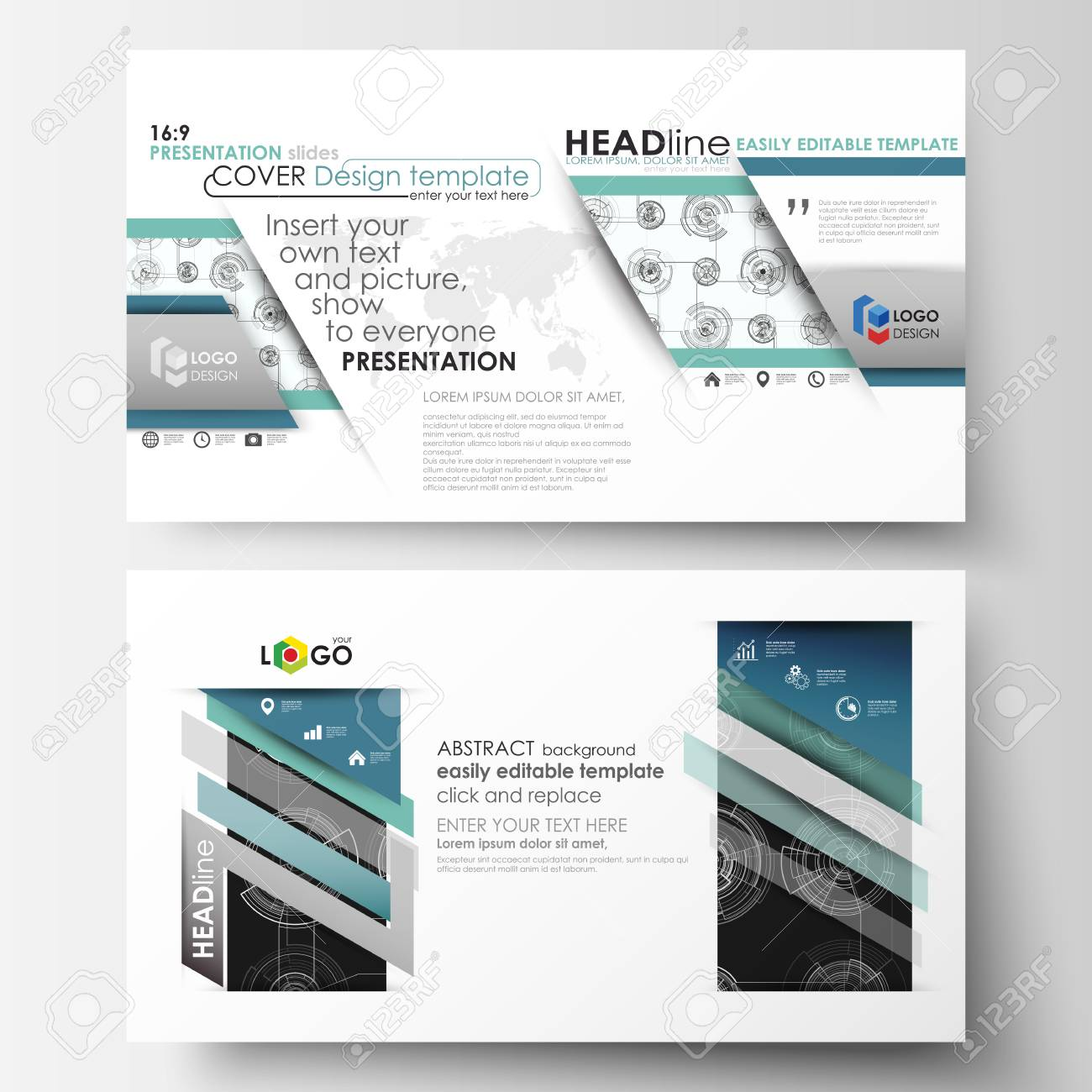Business Templates In HD Format For Presentation Slides. Easy ...