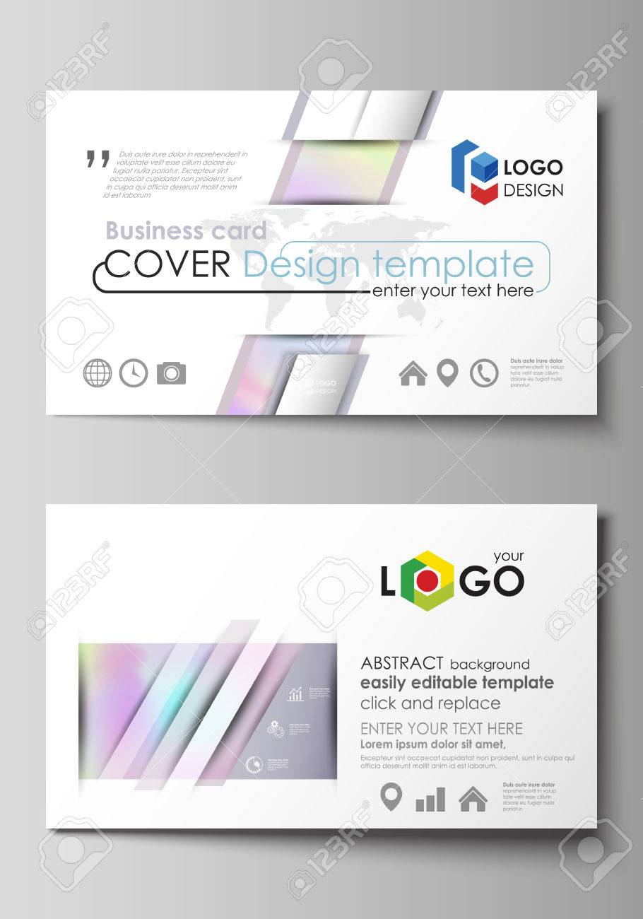 Business card templates easy editable layout abstract design business card templates easy editable layout abstract design template hologram background in accmission Images