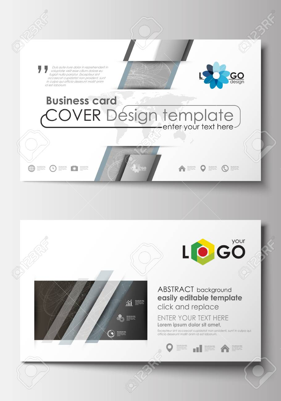 Business card templates cover design template easy editable business card templates cover design template easy editable blank flat layout stock cheaphphosting Choice Image