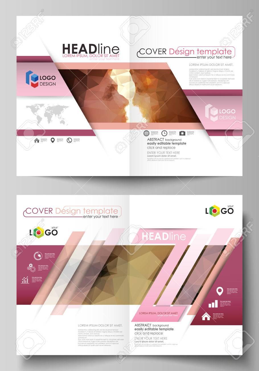 Business-Vorlagen Für Bi-Fold-Broschüre, Magazin, Flyer. Cover ...