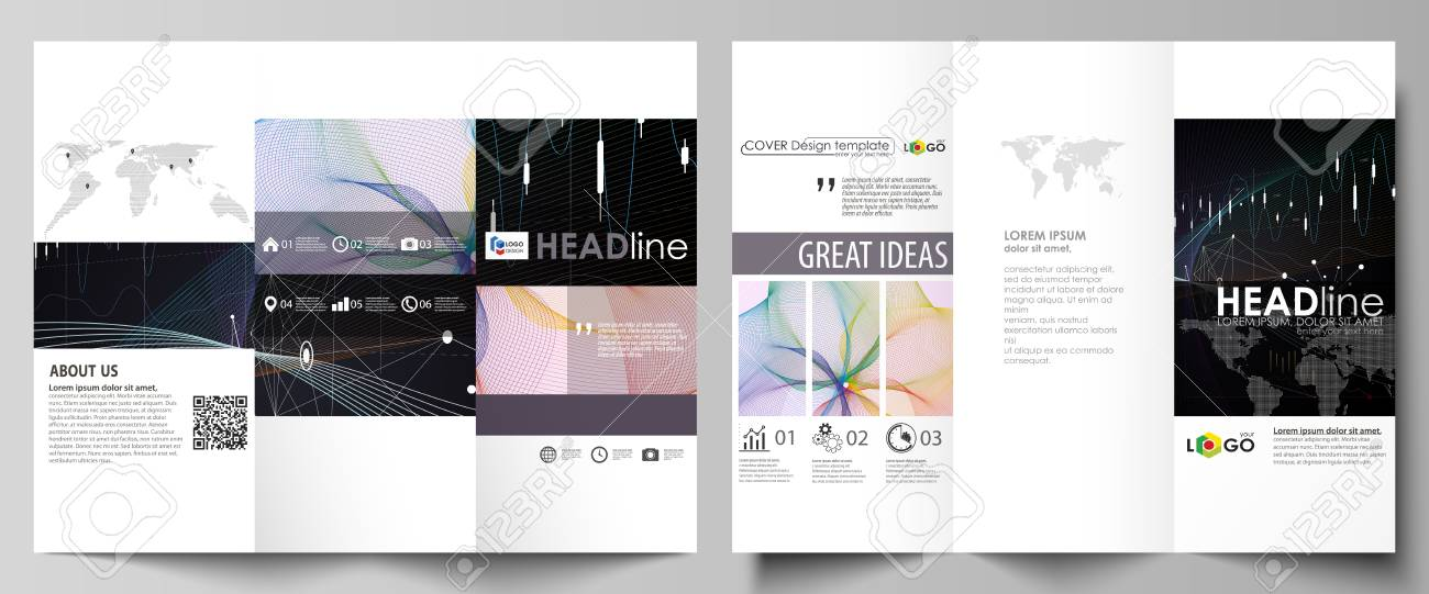 tri fold brochure business templates easy editable vector layout