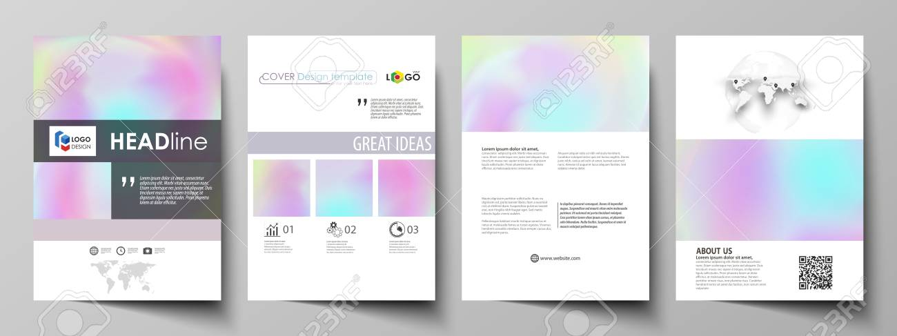 Business Templates For Brochure Flyer Report Cover Design