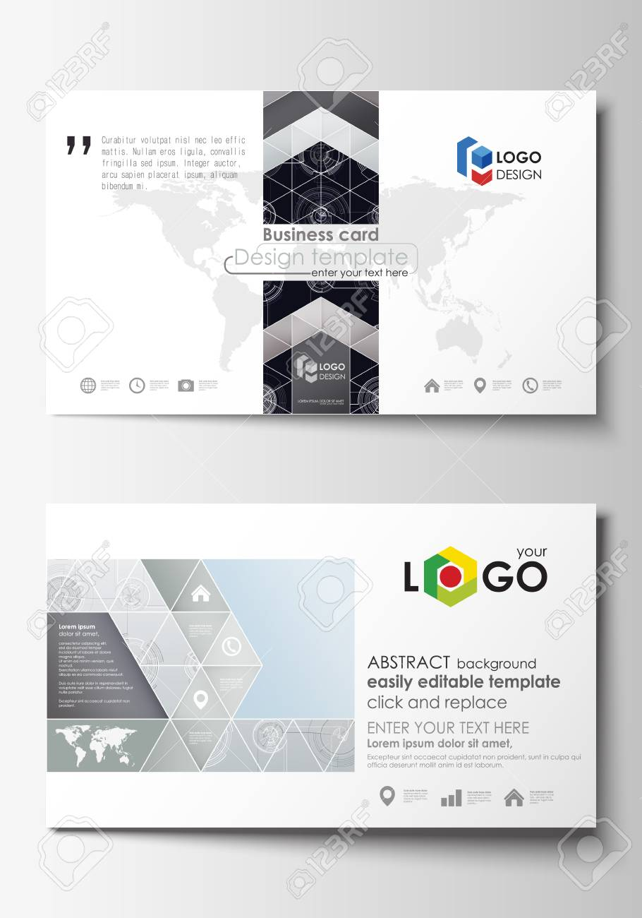 Business card templates easy editable layouts flat style template business card templates easy editable layouts flat style template vector illustration high accmission Images