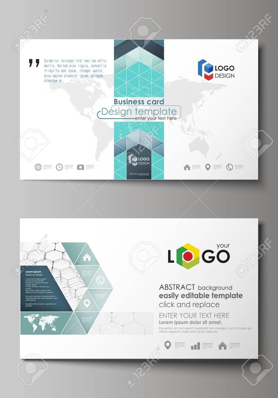 Business card templates easy editable layout abstract vector business card templates easy editable layout abstract vector design template chemistry pattern wajeb