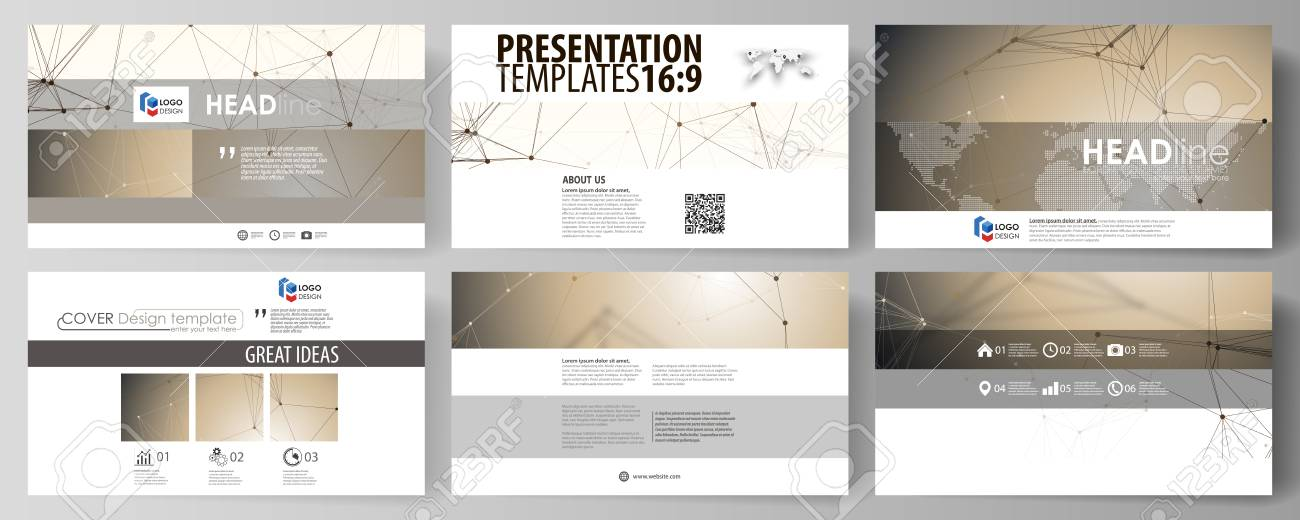 Business Templates In HD Format For Presentation Slides. Abstract ...