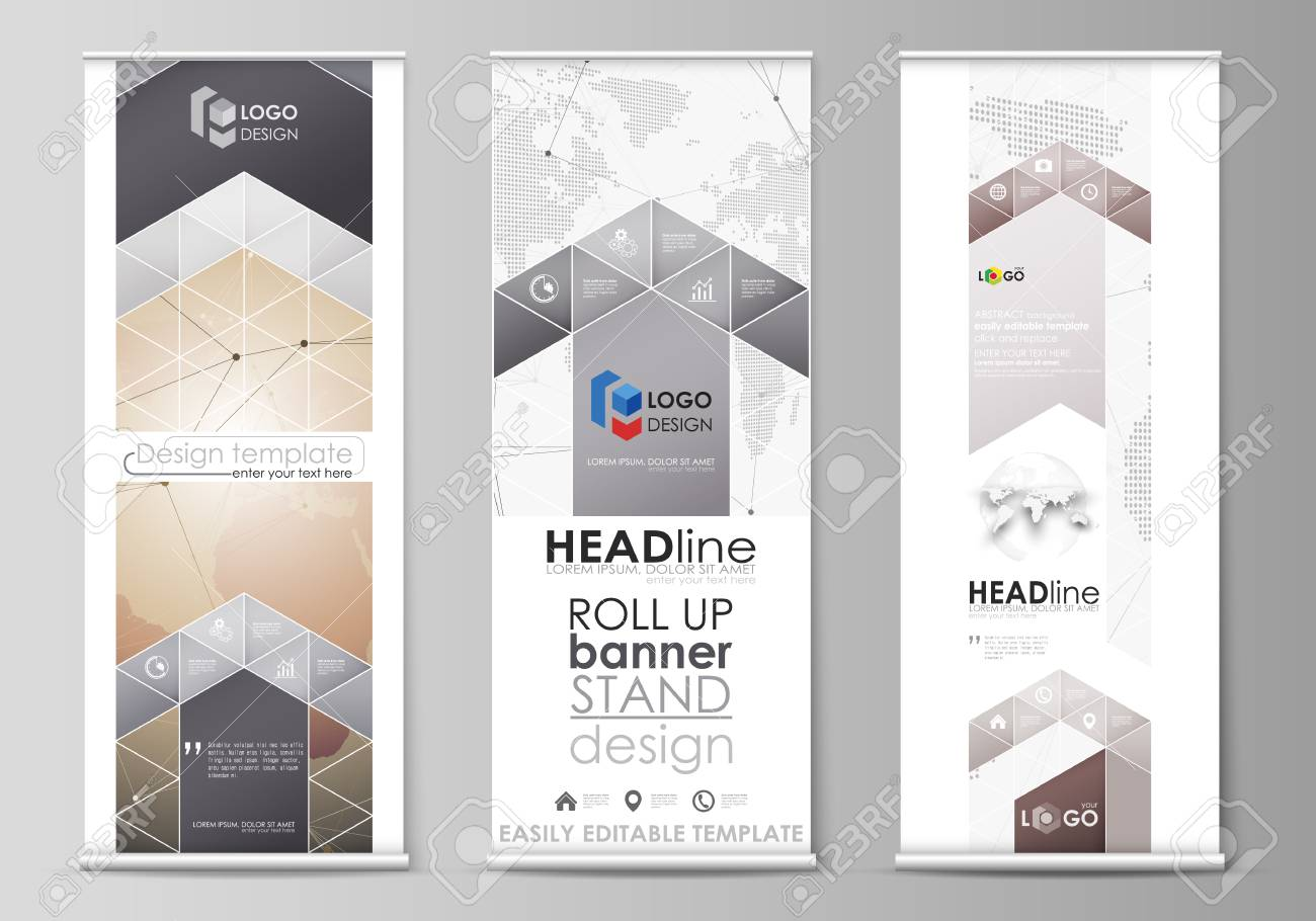 vertical flyers flags design business templates global network