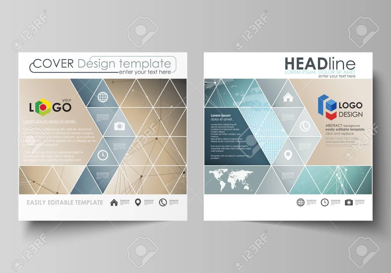Diseño Ditable De Dos Formatos Cuadrados Cubre Plantillas De Diseño ...