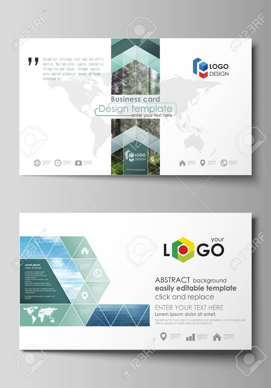 Business card templates easy editable layout abstract vector business card templates easy editable layout abstract vector design template colorful background made friedricerecipe Gallery