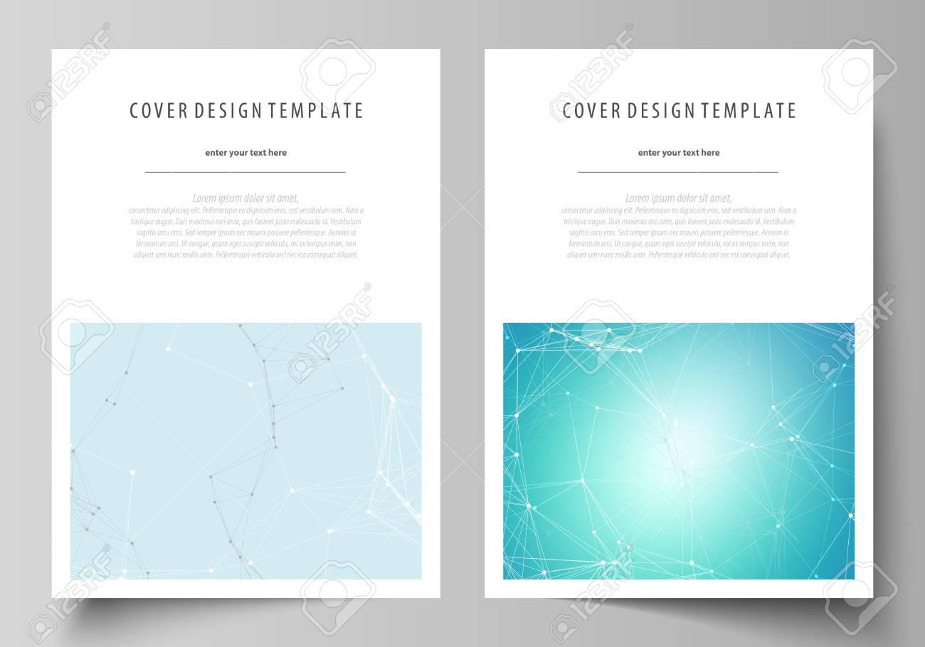 La Ilustración Vectorial Del Diseño Editable De Formato A4 Cubre ...