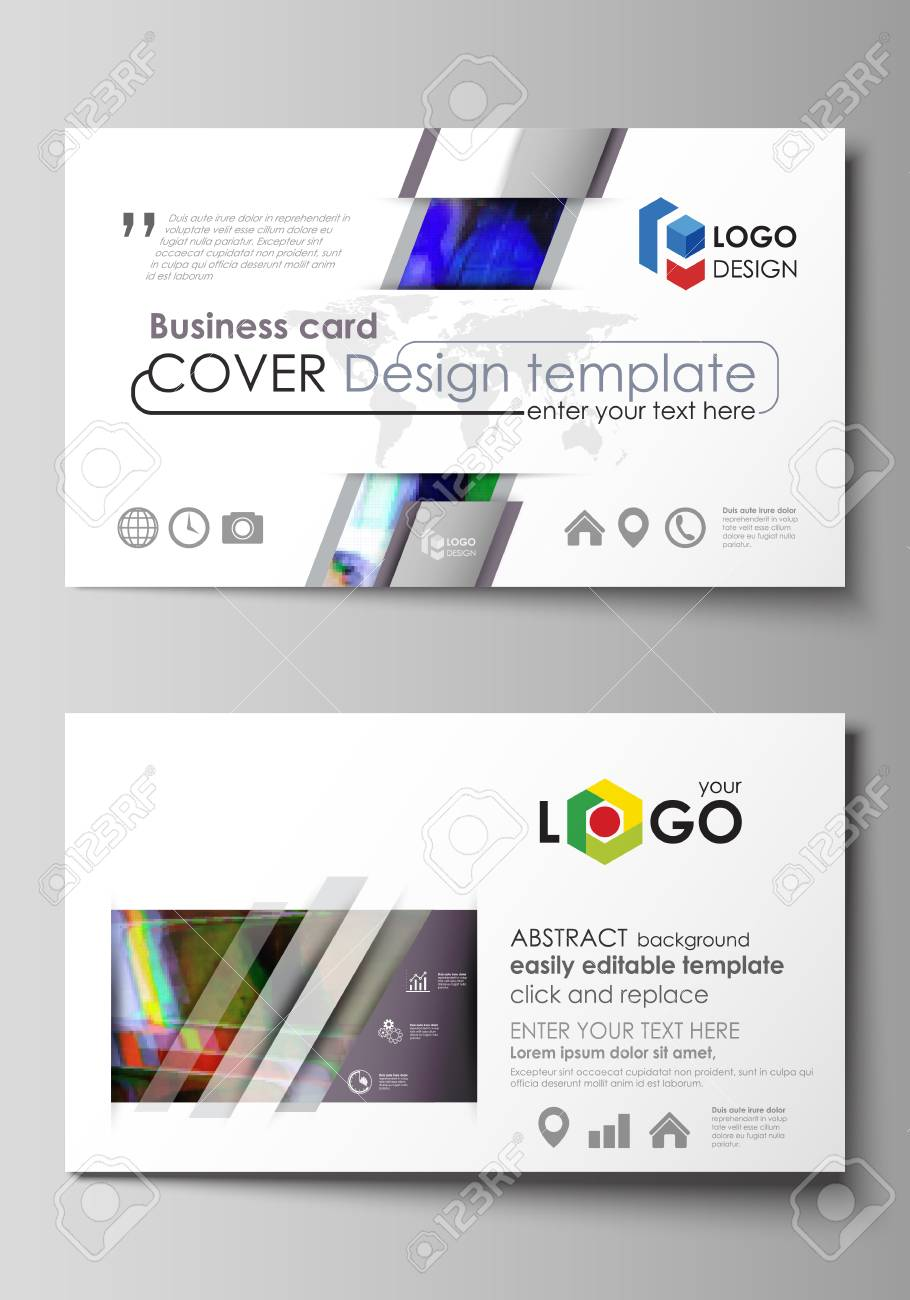 Business card templates easy editable layout abstract vector business card templates easy editable layout abstract vector design template glitched background made accmission Images