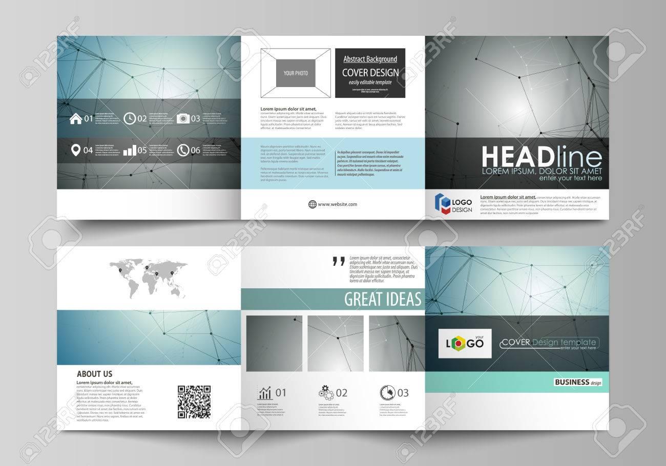 business templates for tri fold square design brochures leaflet