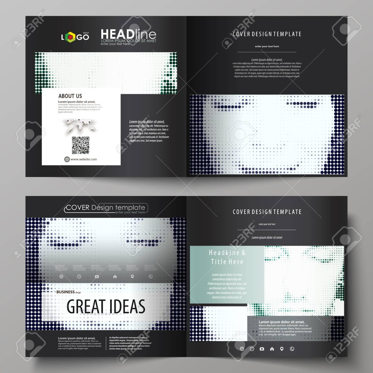business templates for square design bi fold brochure magazine