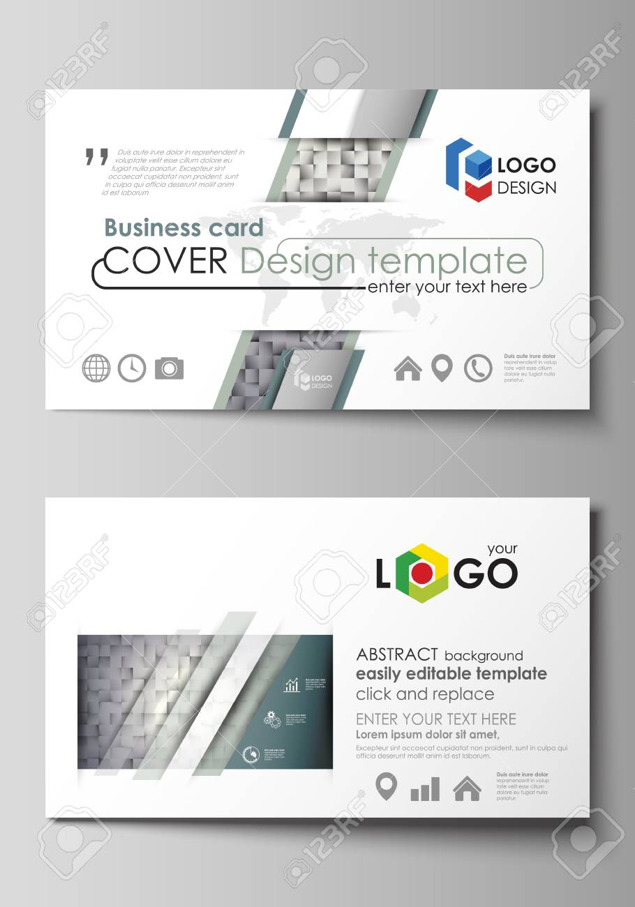 Business card templates easy editable layout abstract vector business card templates easy editable layout abstract vector design template pattern made from reheart Gallery