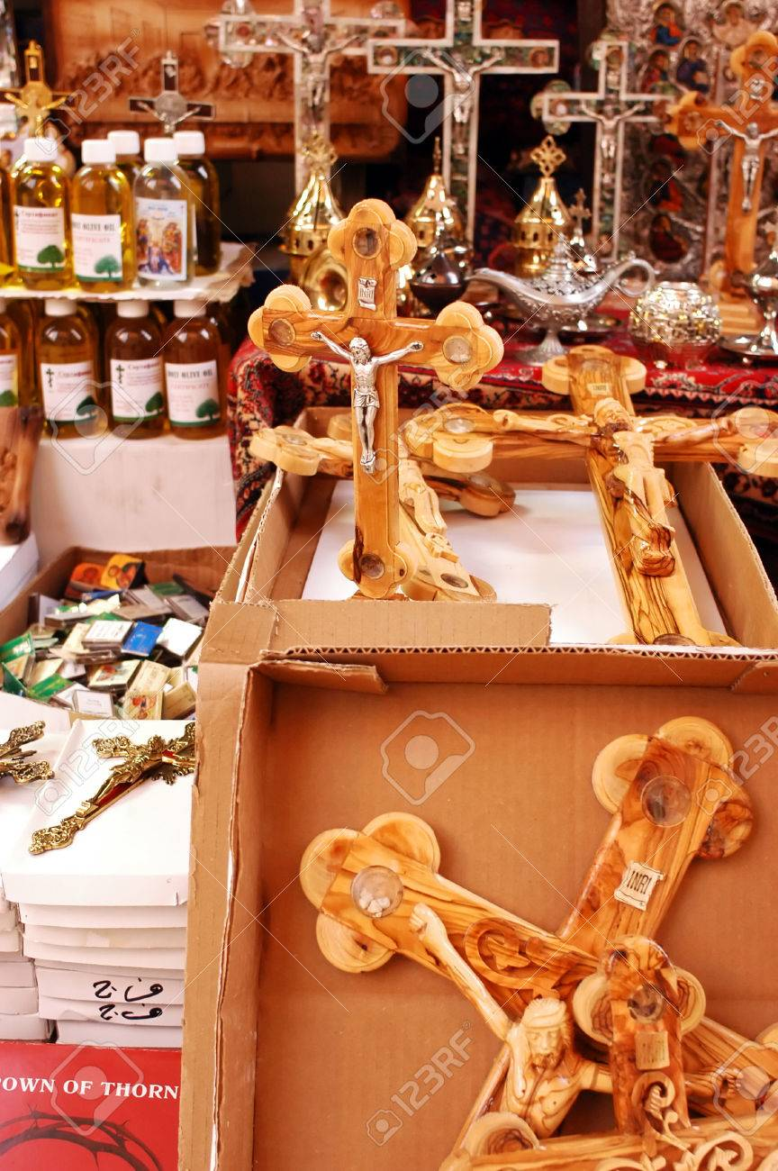 Crosses For Sale >> Christian Crosses For Sale At A Shop In The Old City Of Jerusalem
