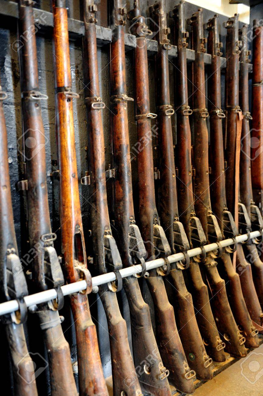 Stock On Gun Cabinet Antique Wooden Gun Cabinet Stock Photo Picture And Royalty Free