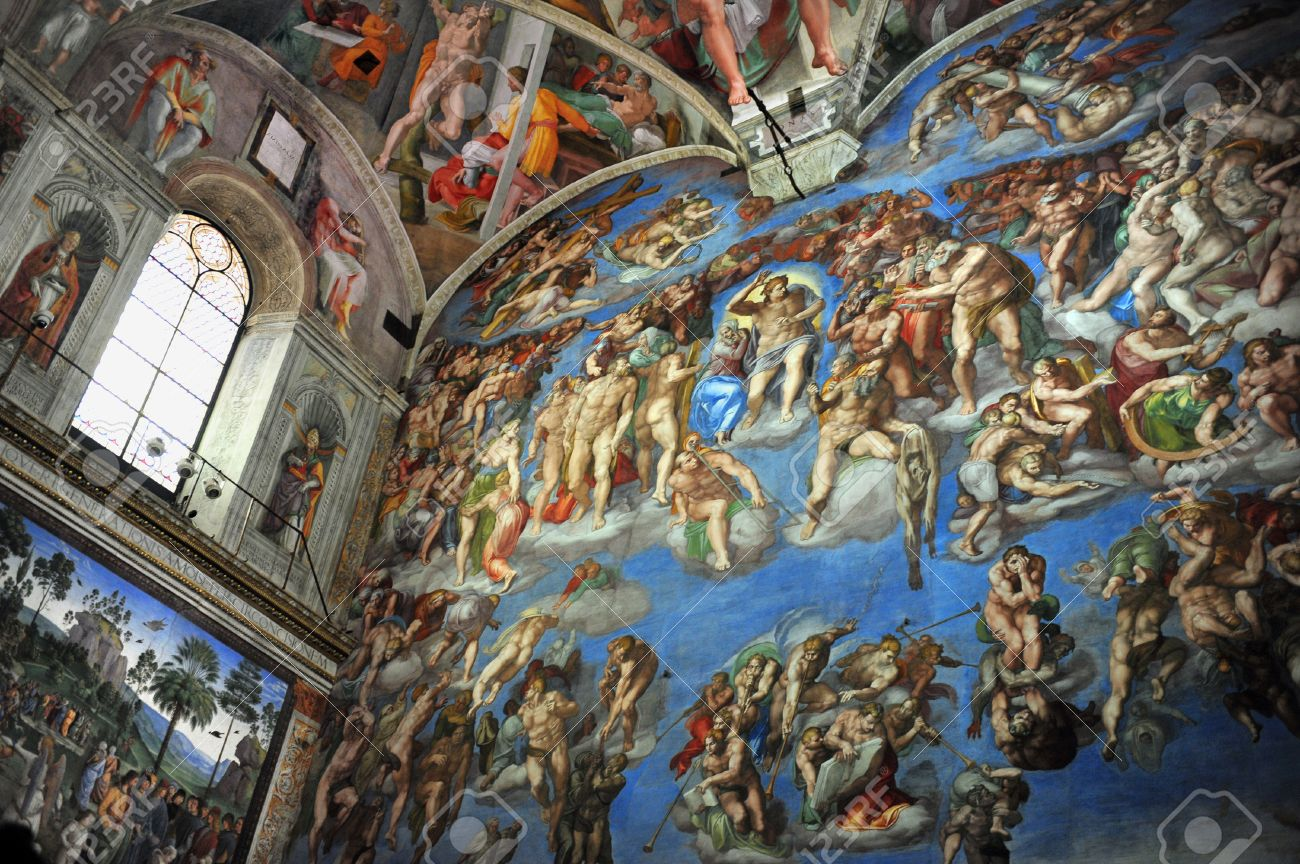 The Sistine Chapel Ceiling Of Michelangelo At The Vatican Museum ...