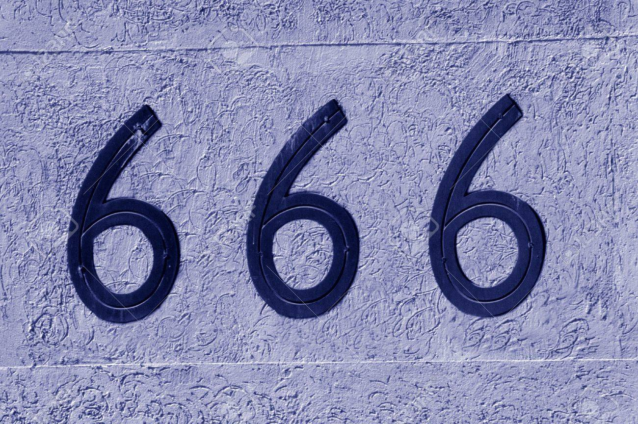 Display number 666 sign and symbol on a wall background concept display number 666 sign and symbol on a wall background concept photo of religion biocorpaavc Choice Image