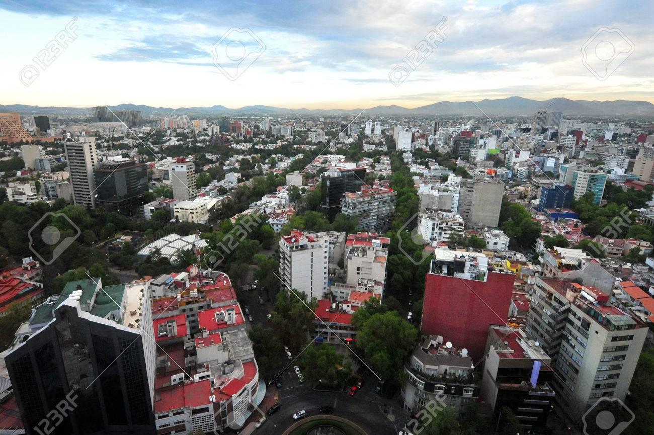 Aerial view of Mexico City, Mexico. - 47618972
