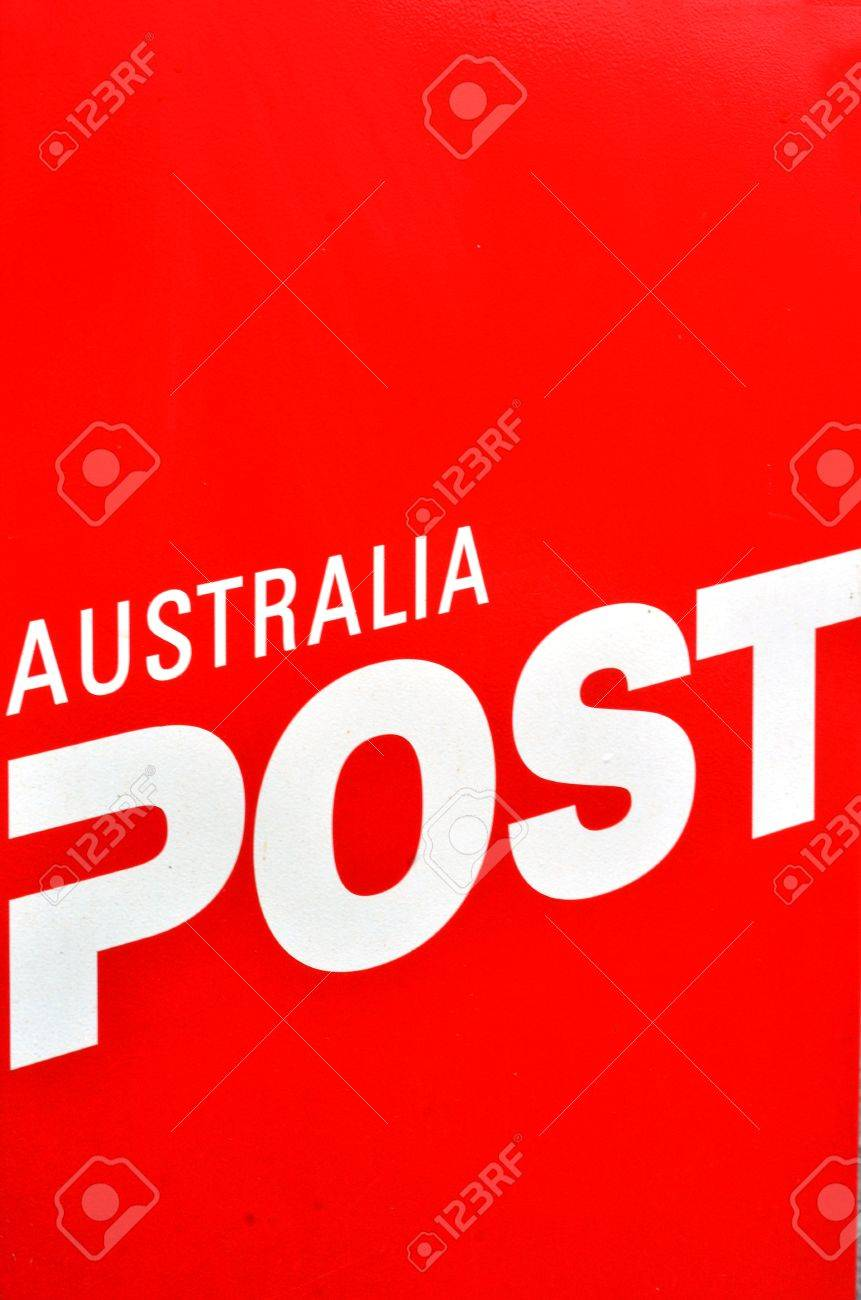 MELBOURNE - APR 10 2014:Australian post office box sign and symbol It's