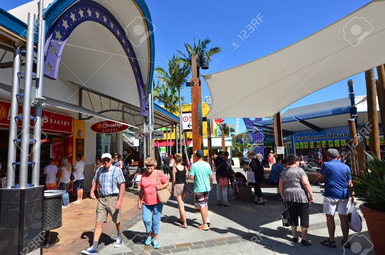 ed66ee7f039 GOLD COAST, AUS - OCT 19 2014:Shoppers at Harbour Town shopping..