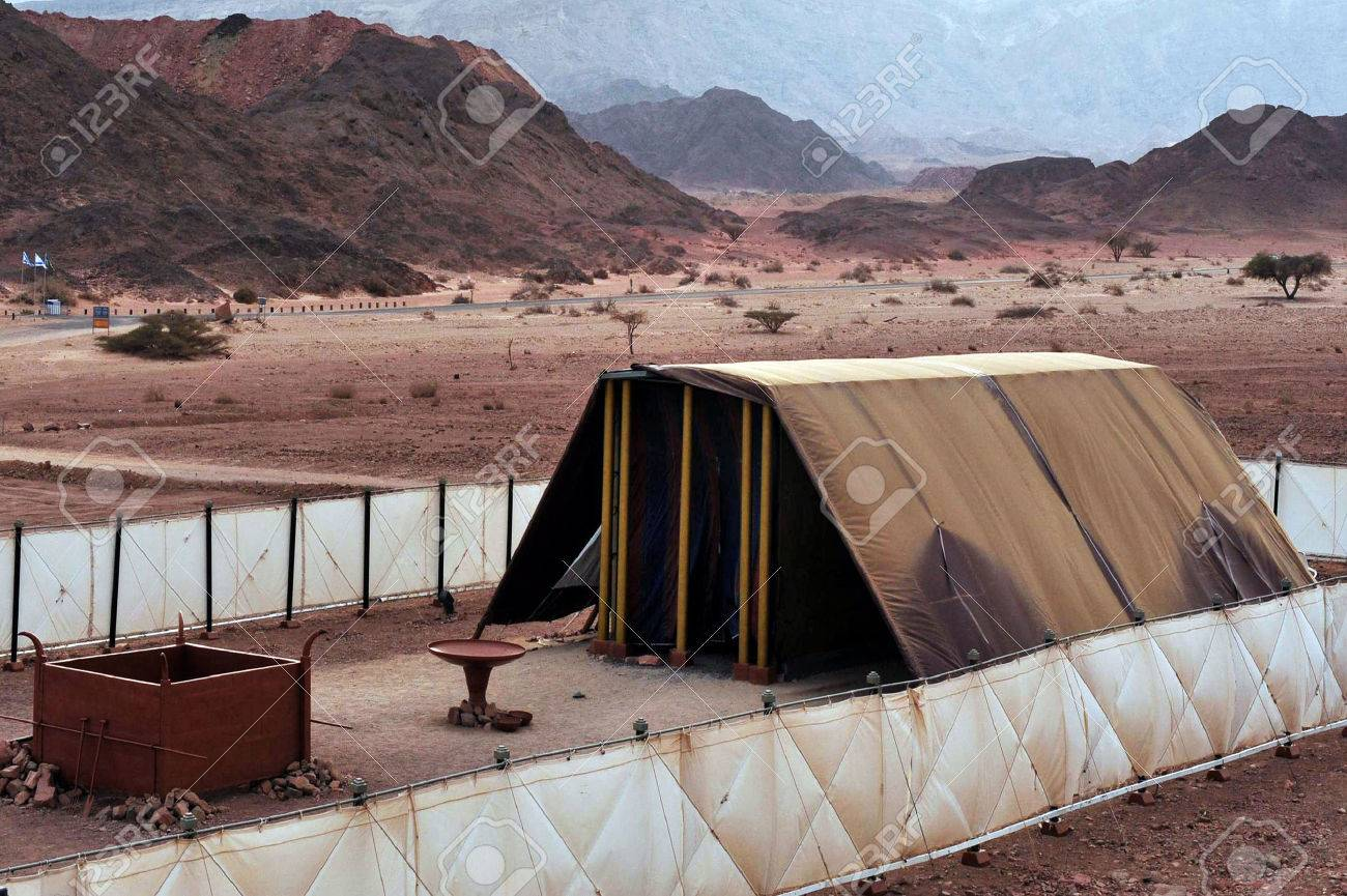 TIMNA, ISR - OCT 15:Model of the tabernacle on October 15 2008.According to the Hebrew Bible, it was the portable dwelling place for the divine presence from the time of the Exodus from Egypt. - 46309526