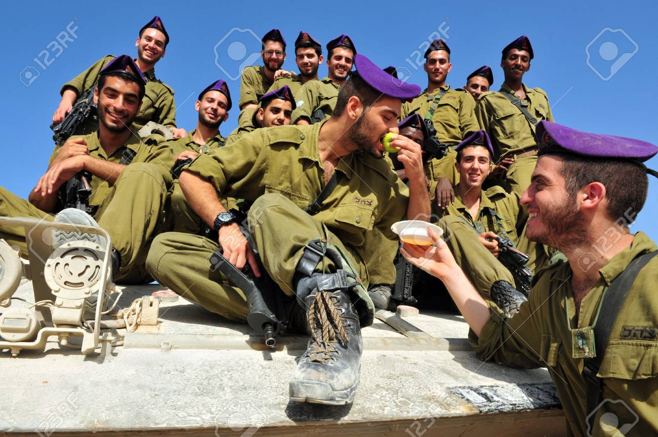 stock photo zikim september 07 idf soldiers are blessing on the traditional jewish custom of apple and honey to welcome rosh hasahanah the jewish new