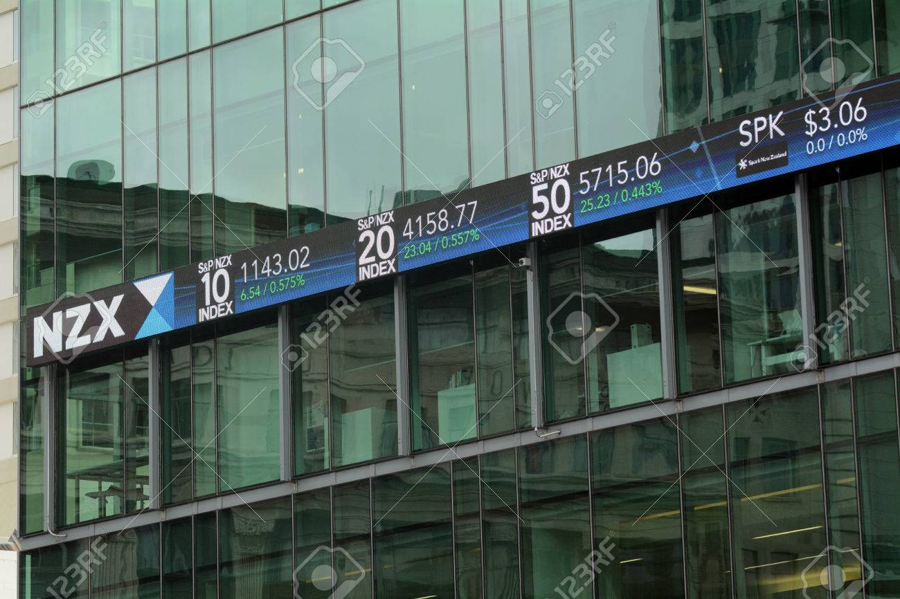 AUCKLAND,NZ - OCT 13 2015:NZX in Auckland New Zealand.As of November 2014, NZX had a total of 258 listed securities with a combined market capitalisation of $94.1 billion - 46709683