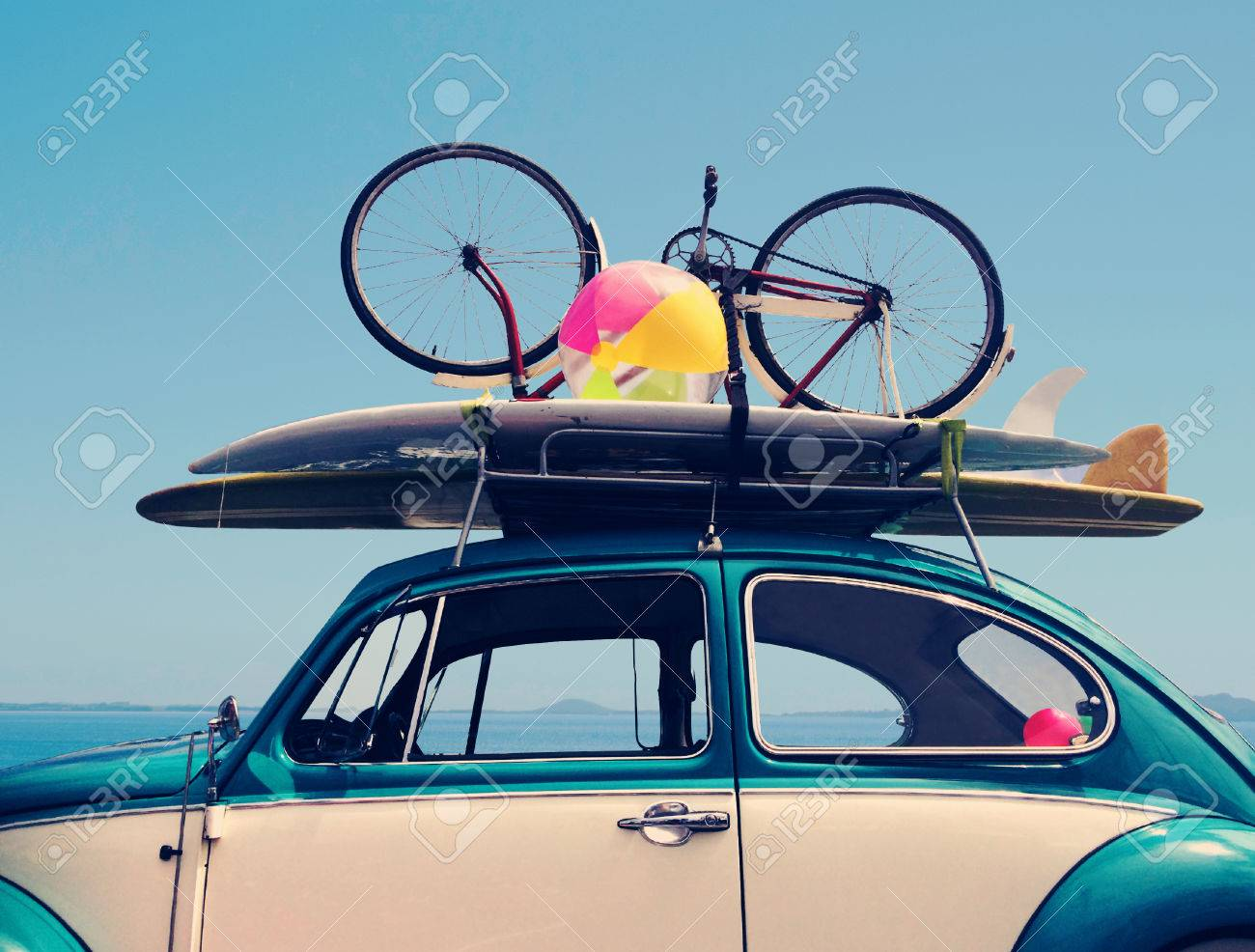Vintage Summer holiday road trip vacation, Travel concept with copy space - 47253089