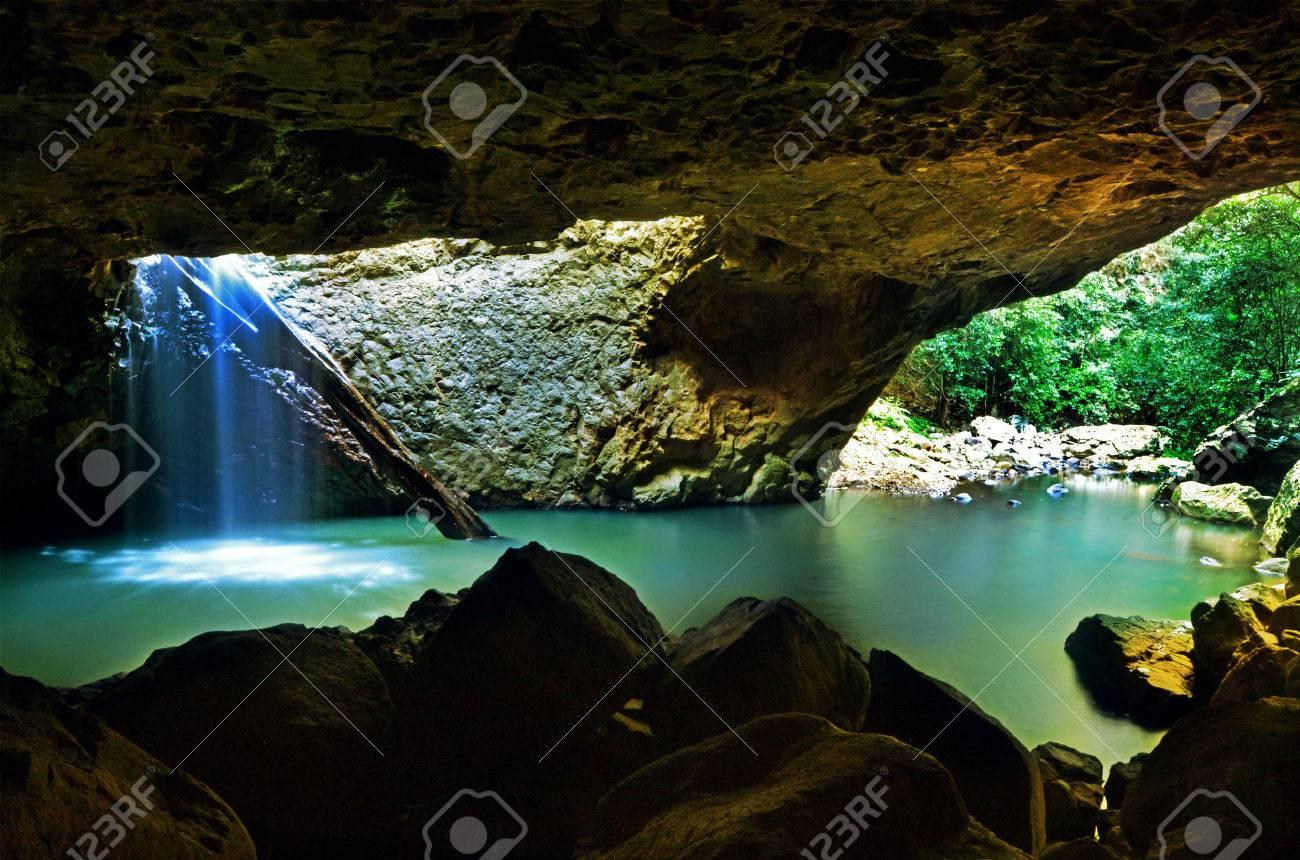 The Natural Bridge at Springbrook National Park in Queensland Australia. - 57314502
