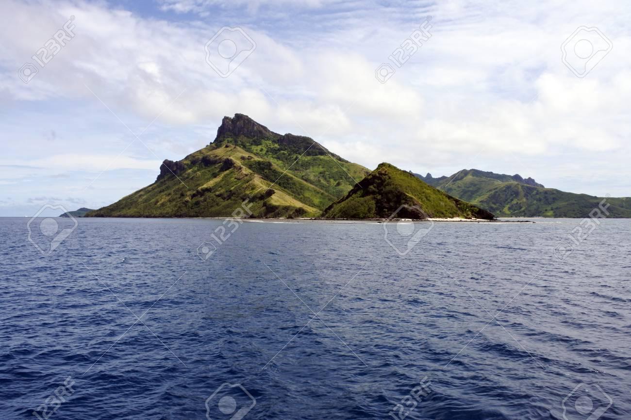 海景、ヤサワ諸島の一つの風景。...