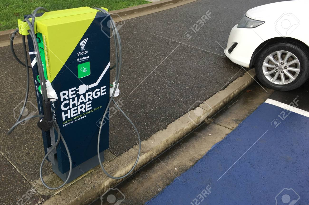 Auckland June 24 2017 Rapid Electric Vehicle Charging Stations