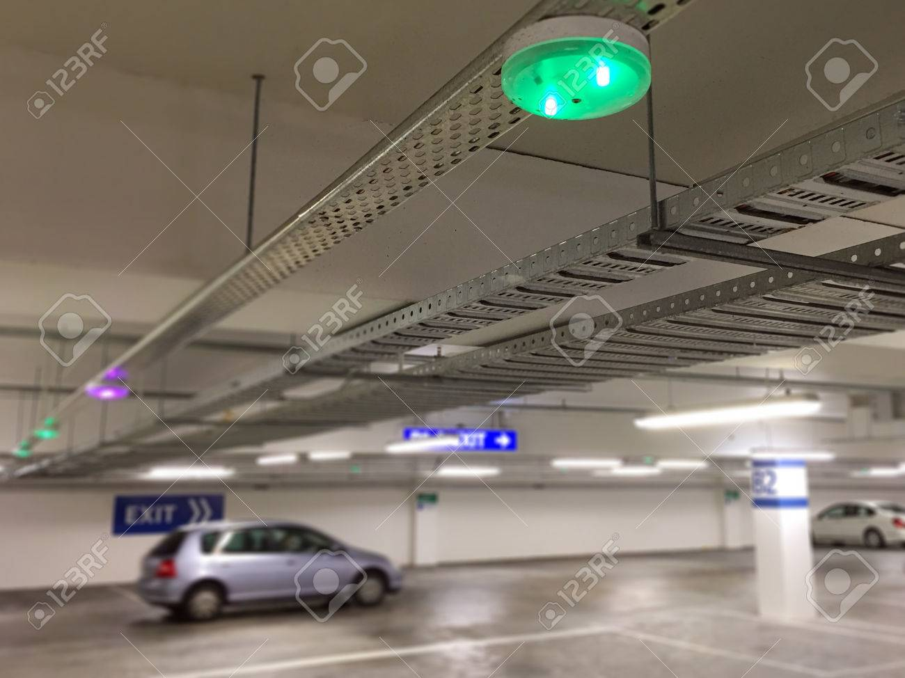 Car parking lot sensors on ceiling indicator light show parking car parking lot sensors on ceiling indicator light show parking space unoccupied is green stock aloadofball Gallery