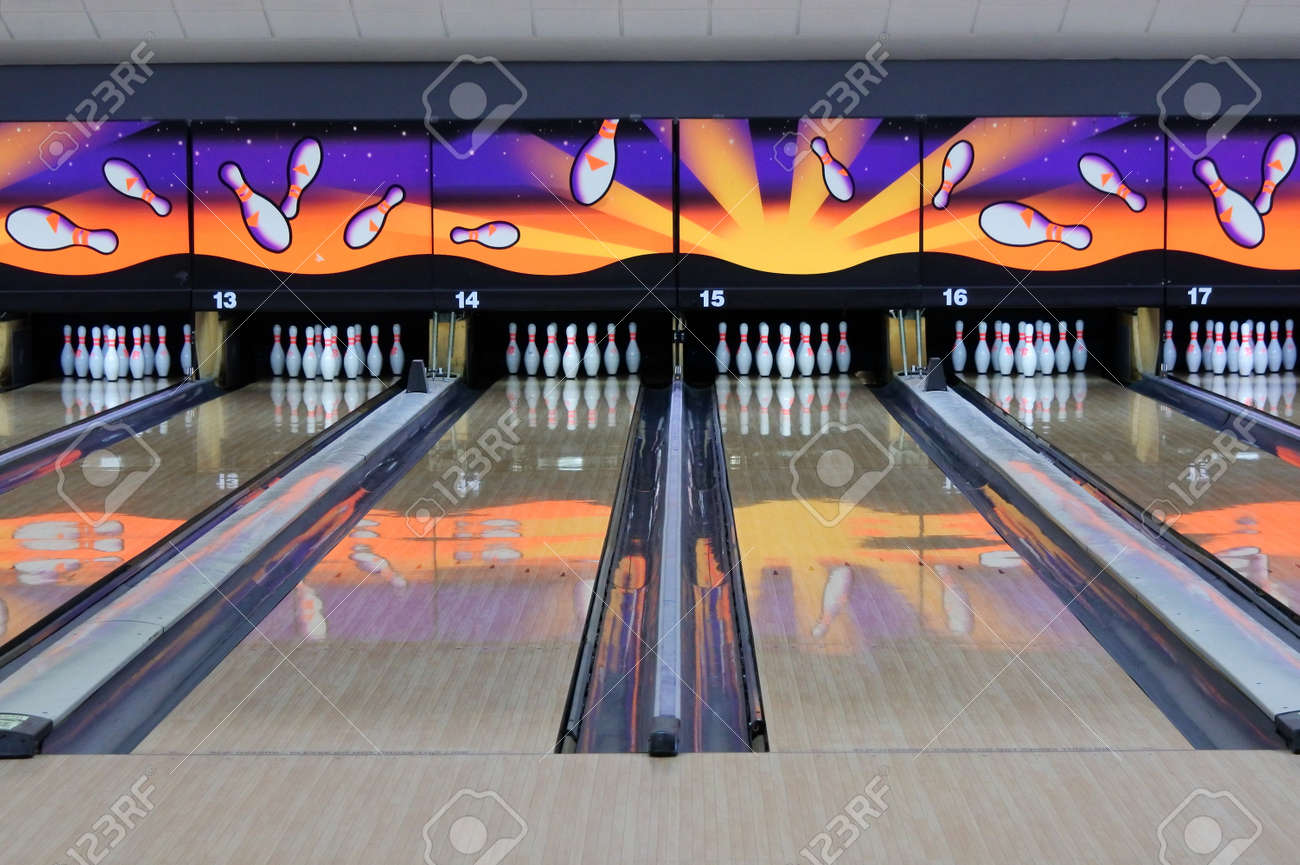 An empty Bowling Alleys.Bowling is played by 100 million people in more than 90 countries - 169904532