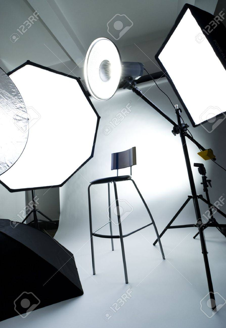 stock photo with lighting studio equipment modern royalty photography free image empty