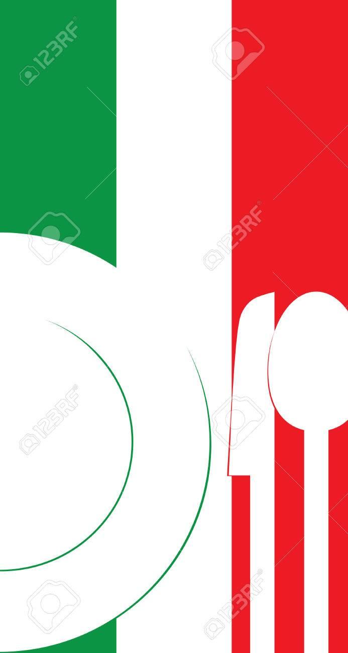 vector illustration italian restaurant menu card template