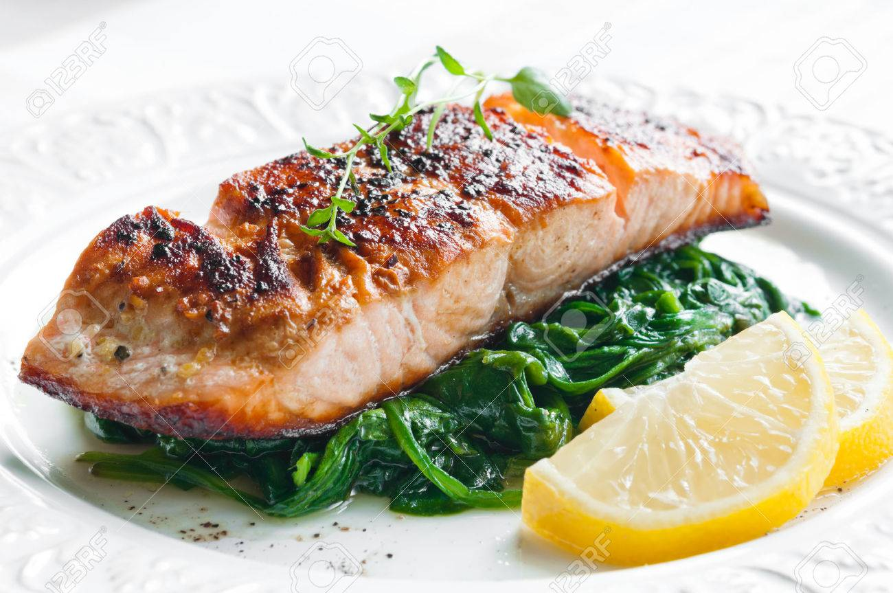 Grilled Salmon With Lemon Thyme Grilled Salmon With Lemon Thyme new foto