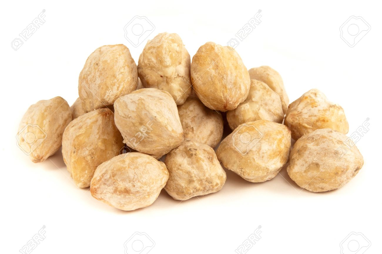 Candlenut or Kukui is a spice especially used in indonesian cooking Stock Photo - 9991357