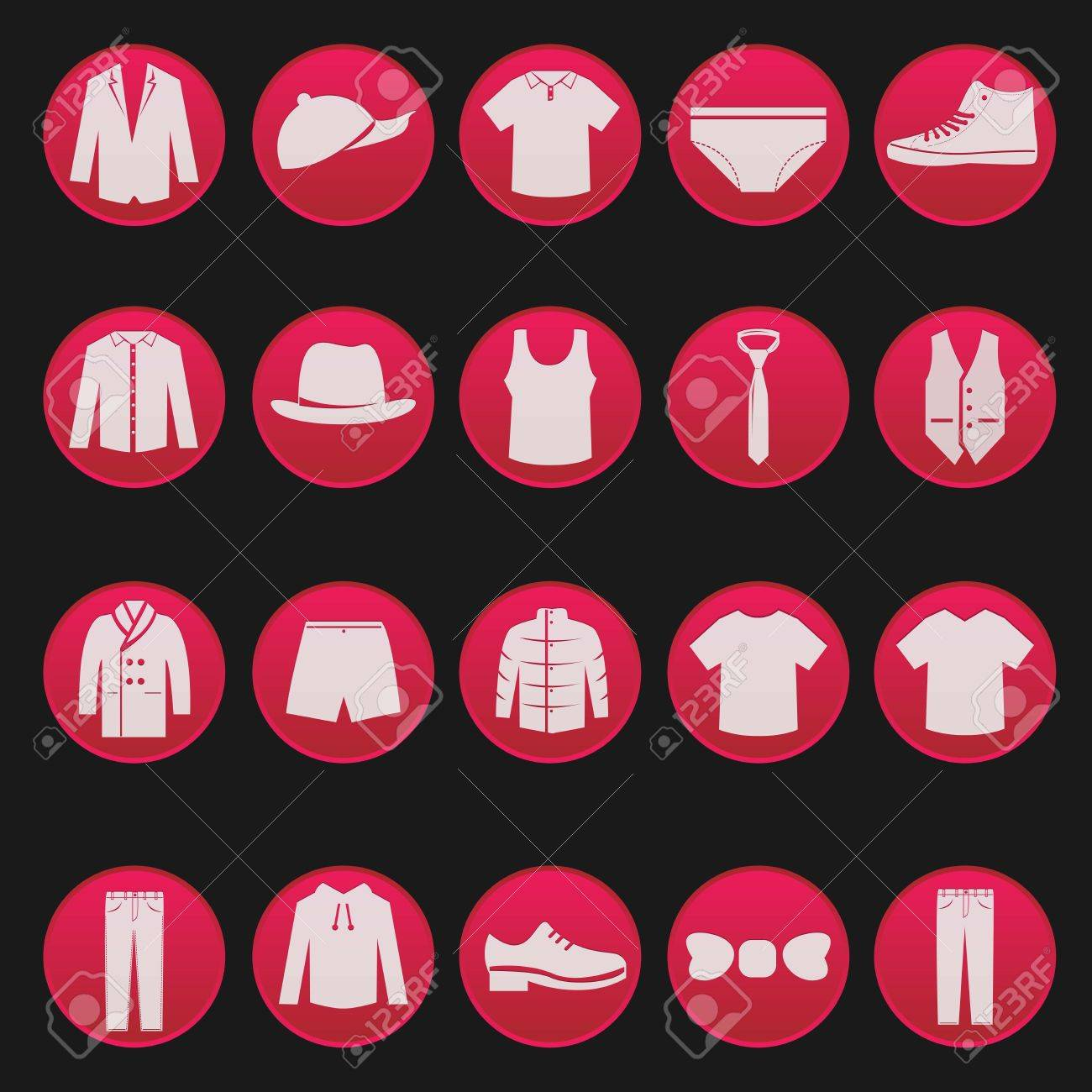 men clothing fashion item set series 2 Stock Vector - 18069978