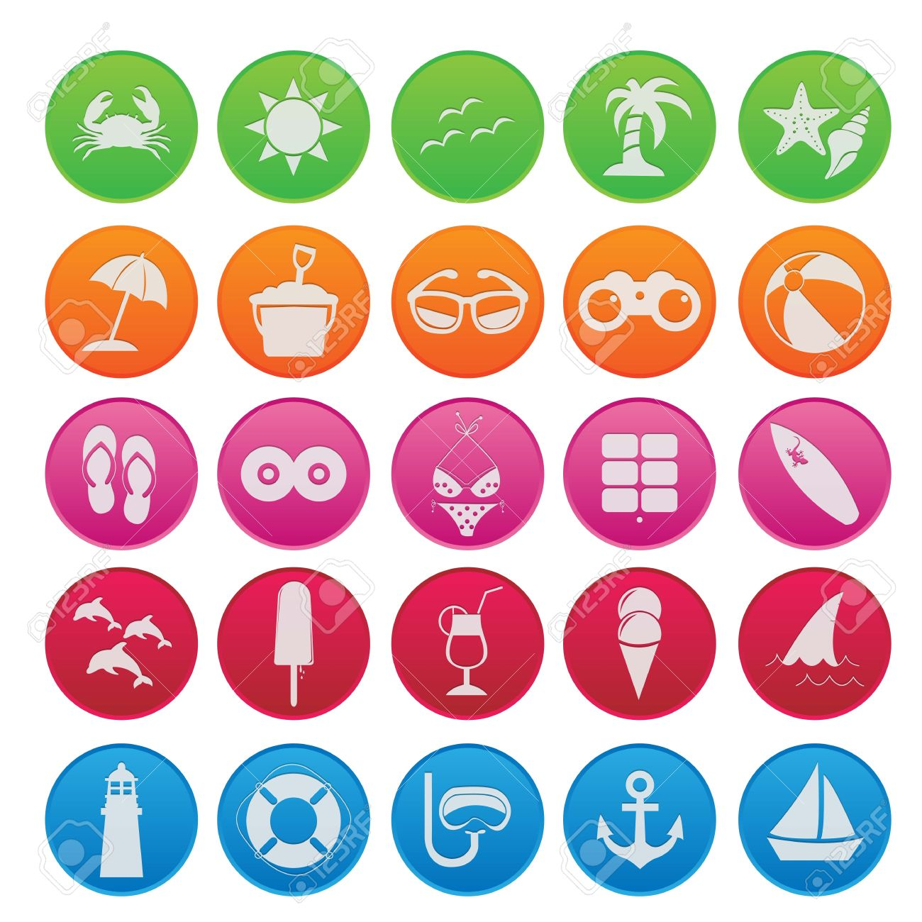 Spring Break Icons Spring Break Icon Gradient