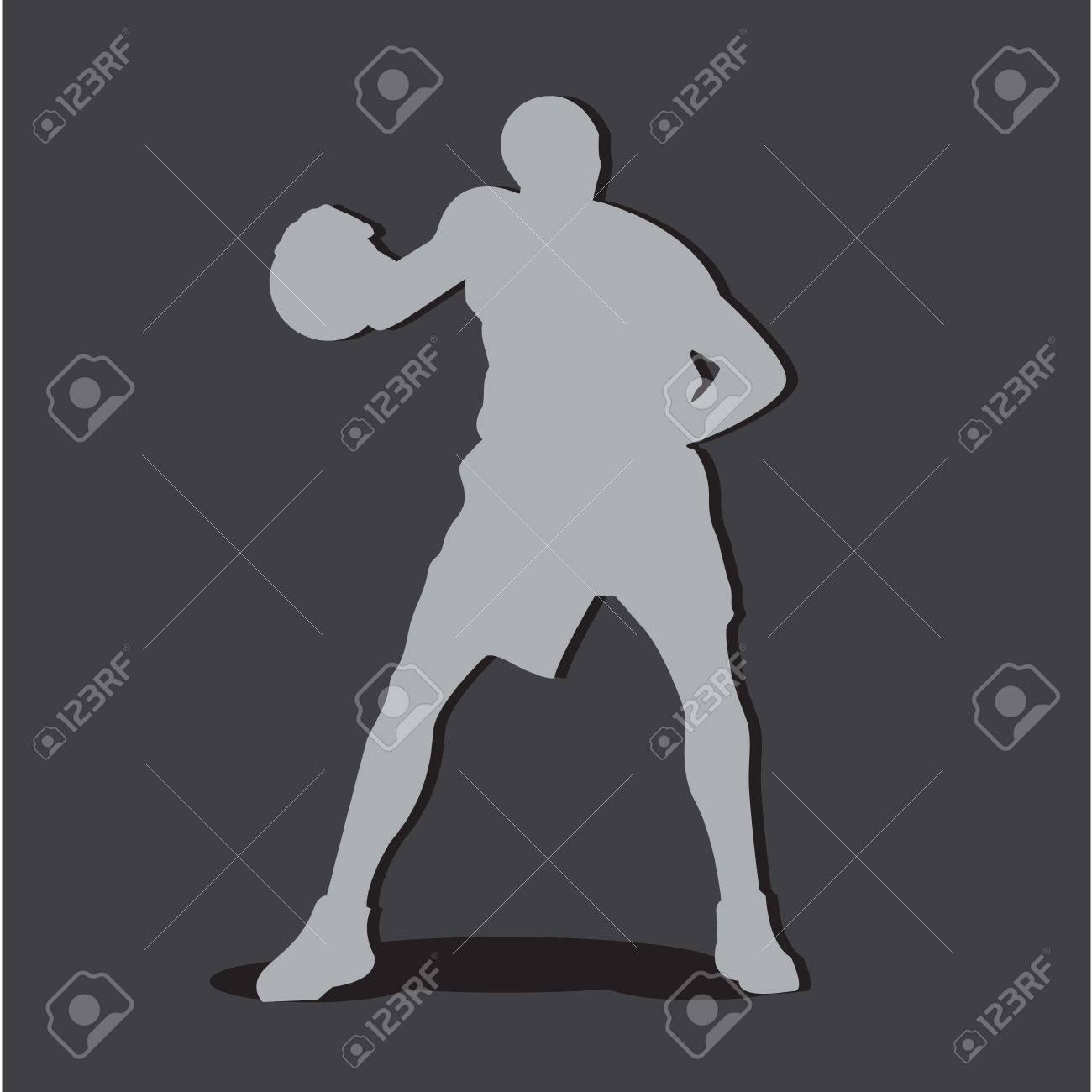 Basketball Player silhouette Stock Vector - 19019438