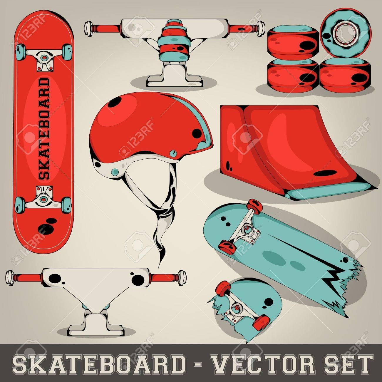 Skateboard Vector Set Stock Vector - 19397612